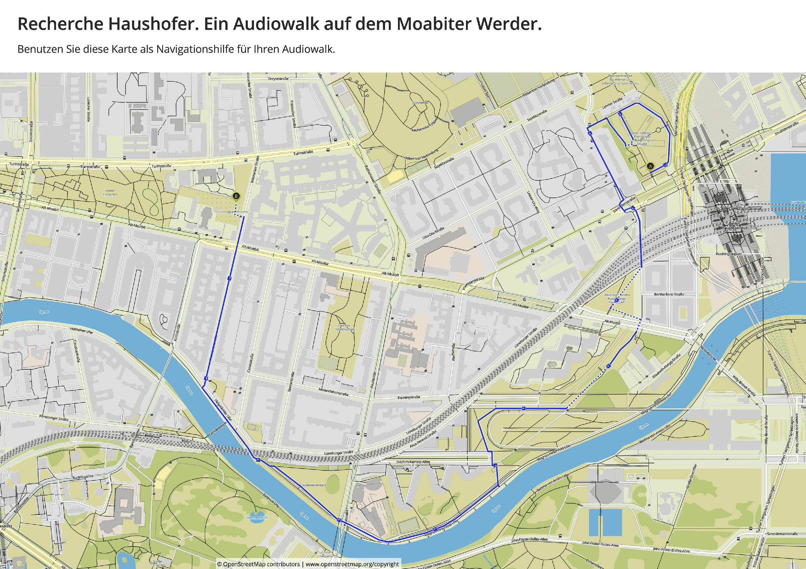 Navigationshilfe zum Audiowalk